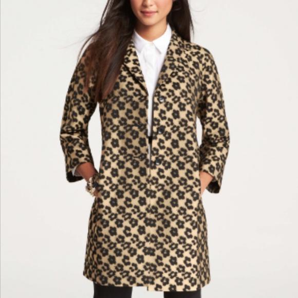 0c2a49df546d Ann Taylor Jackets & Blazers - Ann Taylor Floral Leopard Jacquard Topper  Jacket
